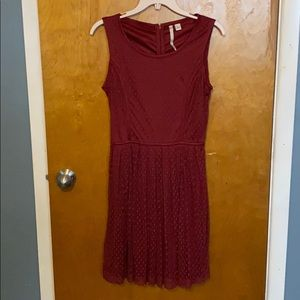 LC Lauren Conrad   Red Fit and Flare Dress